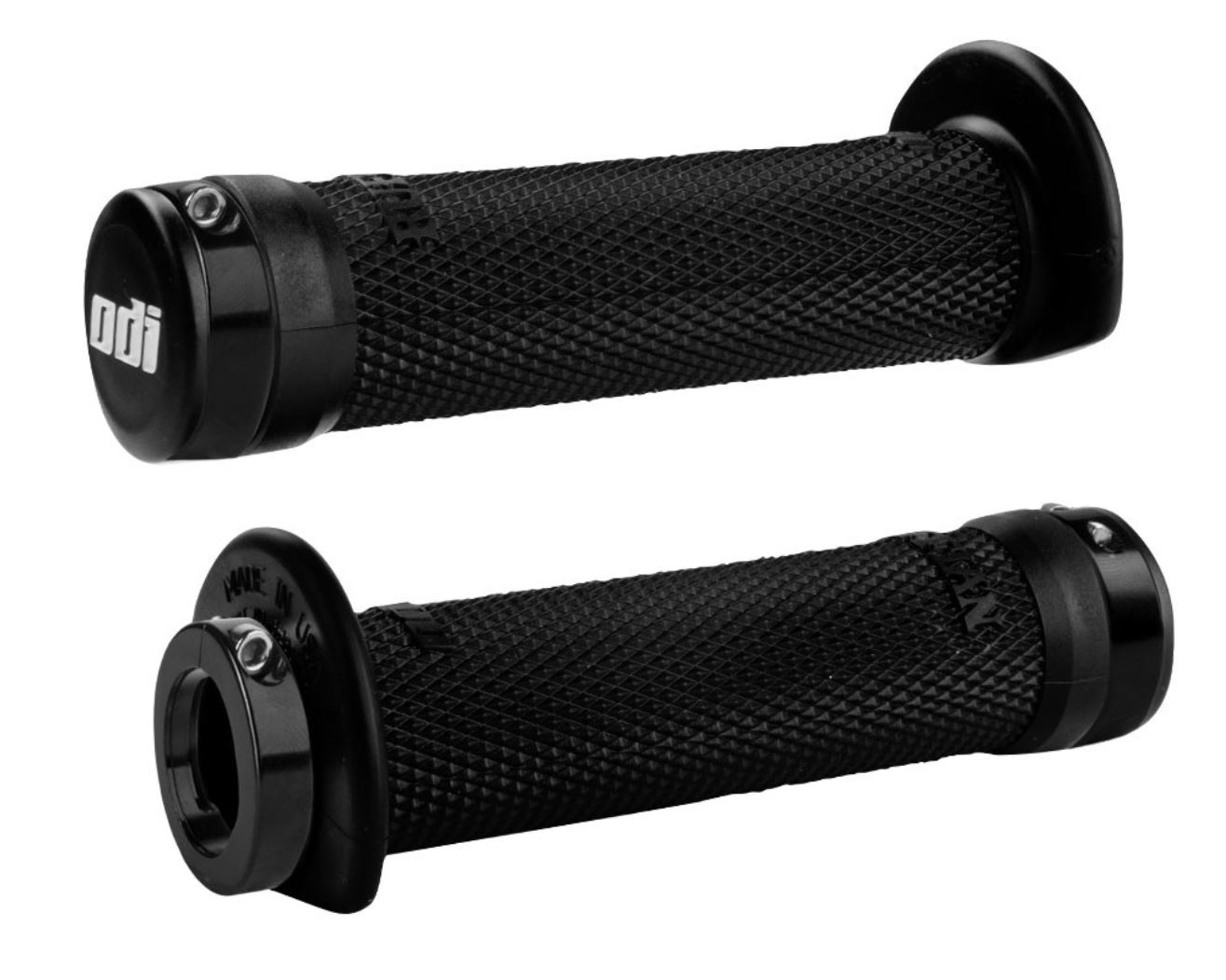 ODI Ruffian Lock-On ATV Grips Black w/ Black Clamps